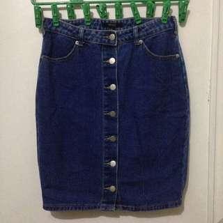 Forever 21 Denim skirt button down