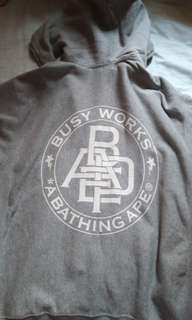 Bape busy work hoodie M size
