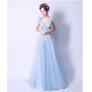 Gown Collection - Fairy Style 3D Butterflies Design Sleeveless Gown