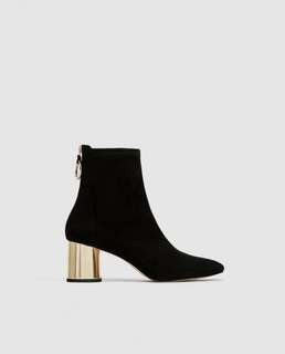 Zara black sock boots