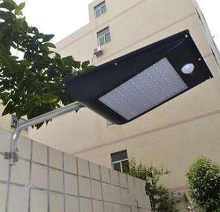 SOLAR MOTION SENSOR STREET LIGHT IP65 1000 LUMEN with 81 LEDS