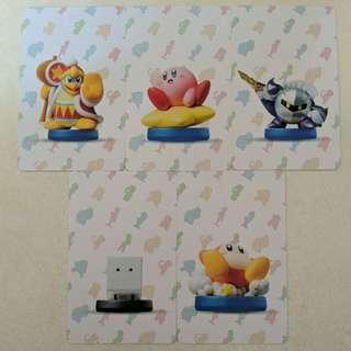 (Ready stock) Amiibo cards for Kirby Stars Allies
