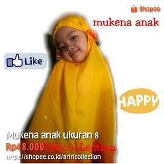 Mukena anak ukuran S