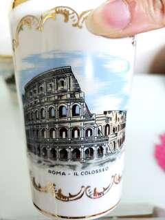 意大利製羅馬鬥獸場記念玻璃杯