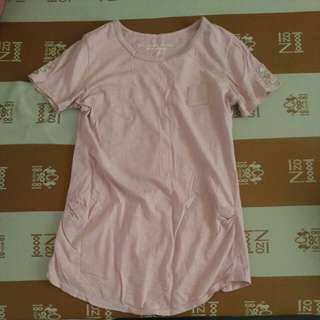 🚚 韓製b-company粉色上衣