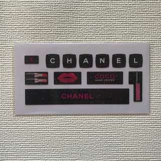 Chanel coco Game Center keyboard sticker