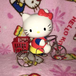 Hello Kitty on Bicycle Ceramic Coin Bank