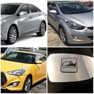 Hyundai i30 Elentra Ioniq i45 Veloster Sonata side mirror all models