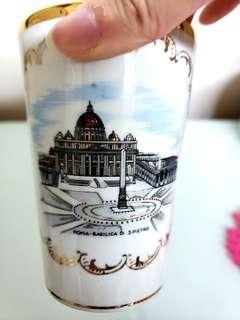 意大利製梵蒂岡聖彼得大教堂/聖伯多祿大殿記念玻璃杯