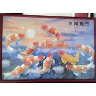鱼跃龍门 Vintage Fish Zigsaw Puzzle
