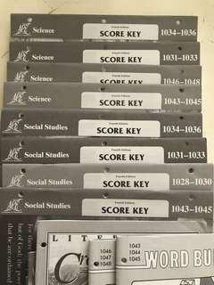 ACE Score Keys