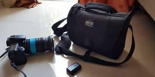 Canon EOS60D camera with 18-135 fish eye lens