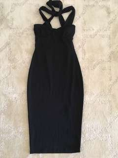 Fitted bodycon cocktail dress