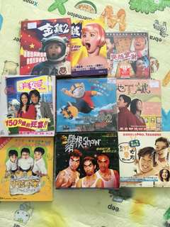 9 pcs of Chinese and korean movie VCDs