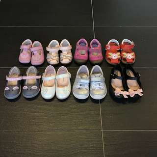 Clark's,mini melissa,oshkosh shoes, from 1yo-3yo bundle
