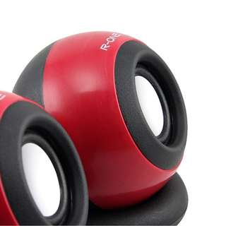 Speaker Laptop Bulat R-ONE X-110 Merah Hijau