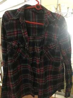 Topshop Plaid Polo