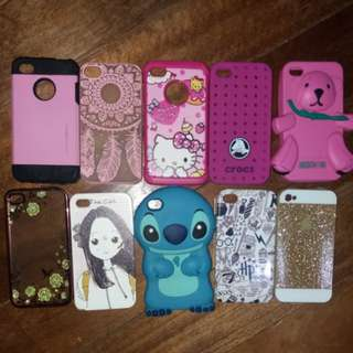 Iphone 4s assorted casings harry potter moshino hello kitty crocs stitch  tough armour bundle only