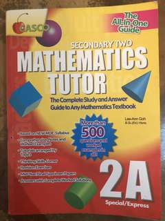 Secondary 2 Maths Guide Book