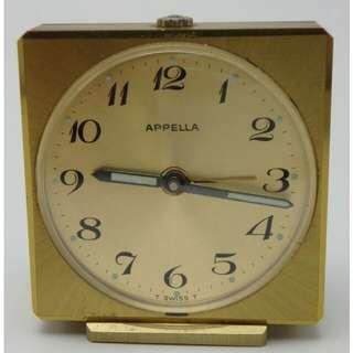 APPELLA - swiss made 7J alarm clock - 座檯響鬧 上鍊鐘
