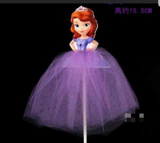 Sofia the first cake toppers/Props