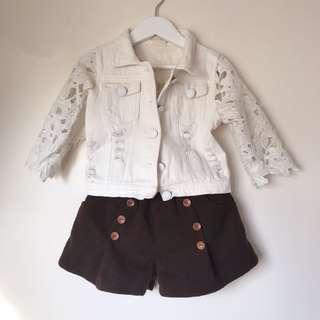Girls wool like shorts size 3-4