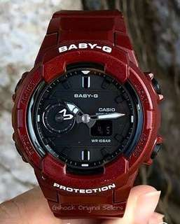 NEW 🌟ARRIVAL BABYG DIVER SPORTS WATCH : 1-YEAR OFFICIAL WARRANTY: 100% AUTHENTIC BABY-G-SHOCK RESISTANT in Metallic BURGUNDY RED MAROON BEST FOR MOST ROUGH USERS: BGA-230S-4ADR / BGA230S / BGA-230 / BGA230 CASIO JAPAN