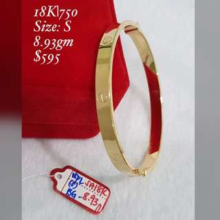 Cartier Bangles- Genuine 18K Gold