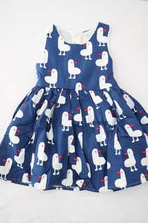 Baby Girl Dress Ducky (Blue/Pink)