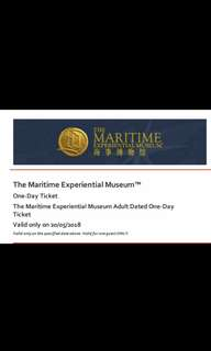 The Maritime Experiential Museum Adults E-Tickets, 20 May 2018