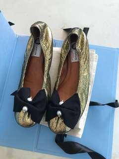 Lanvin gold / bronze ballerina shoes 平底鞋 39 全新