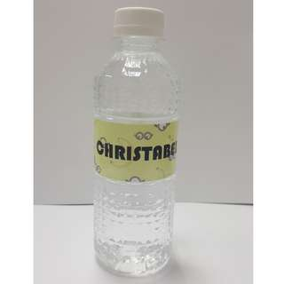 Customised Label Mineral Water Bottle (Birthday/Party/Corporate)