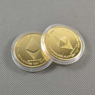 Ethereum Gold Plated Commemorative 1 oz Collectible Coins - Gifts