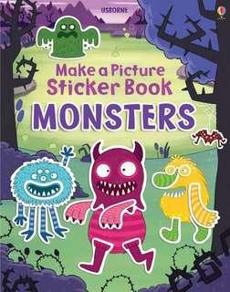 Usborne Monster sticker book