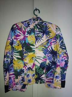 Blazer with Tropical Print