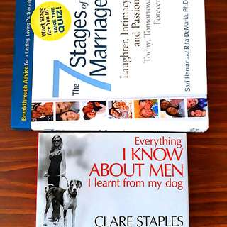 2 for $12: Everything I Know About Men I learnt from my dog; The 7 Stages of Marriage