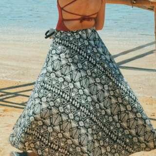Customized Bohemian Skirt With Slit