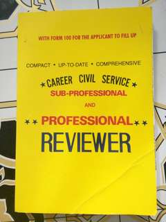 Career Civil Service Reviewer (Sub Prof and Prof)
