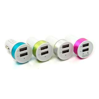 Car Charger Bulat 2 USB 2.1A Full Colours Charger Mobil
