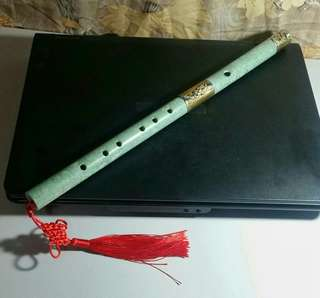Light Green Marble Flute Music Instrument