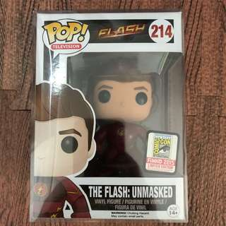 Funko Pop Flash Unmasked SDCC Exclusive