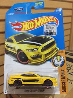 HOTWHEELS FACTORY SEALED 2017 FORD SHELBY GTR350R
