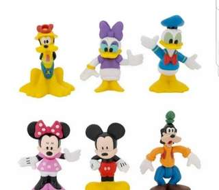 Mickey Minnie donald daisy goofy pluto figurine for Cake/Cupcake/Muffin Toppers for Party Decoration