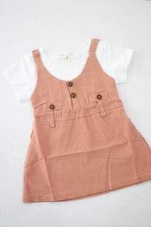 Pink \ brown top dress