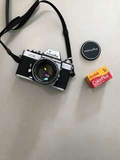 Rare 50-year old Minolta XE film camera with 50mm MC Rokkor f/1.4 lens