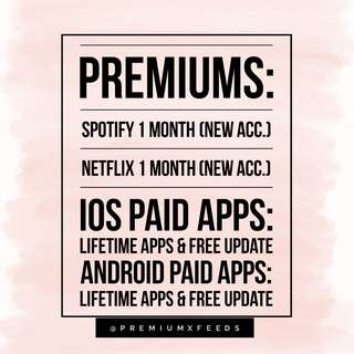 SELLING PREMIUMS AND PAID APPS!