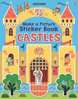 BN Usborne make a picture sticker book CASTLES