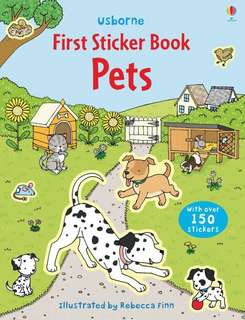 🚚 BN Usborne first sticker book Pets
