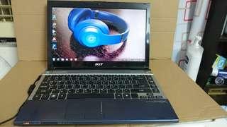 Acer core i5.500GB. Windows 7.2 Gb VGA nvidia
