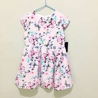 New butterflies dress size 3-4 tahun 2-3 tahun
